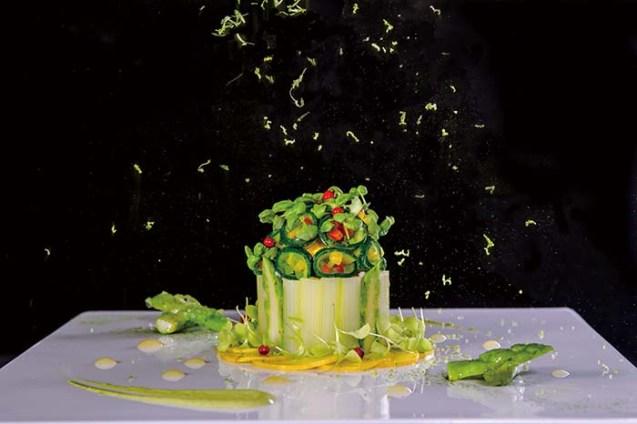 グリーンアスパラガスのシャルロット'ライムの香り'