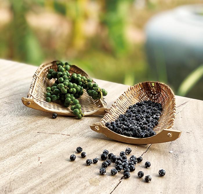 世界中の名シェフが絶賛する〈塩漬け胡椒〉。収穫したてのフレッシュな胡椒の実に、カンポットの天日海塩をまぶし熟成される。弾ける食感に続く奥深い香りと味わいは、肉料理をはじめアイデア次第で和食・洋食・中華、スイーツにも。おすすめは、お茶漬けと卵かけご飯。胡椒の概念を変える新しい愉しみ方に出会える