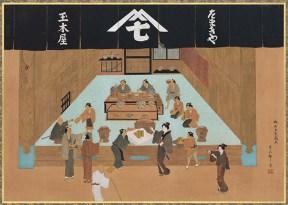 江戸時代の新橋本店の様子。現在もその場所に本店があり、江戸の味を今に伝える貴重な存在となっている