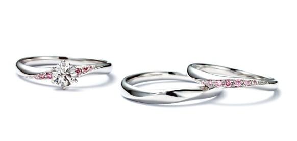 <Honey Darling>ファンタジア/ 世界の女性を魅了する希少なピンクダイヤモンドを使った「ハニーダーリン」。四国での同ブランドの取扱い店はトワージュのみとなっている