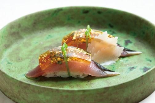 「ヨコワマグロの握り寿司」
