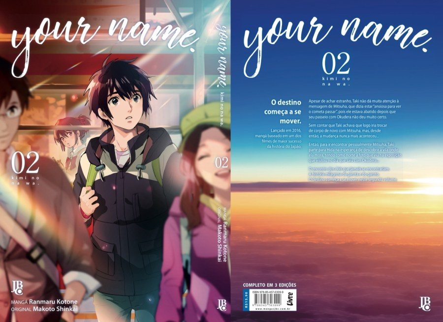 Está liberada a capa completa de your name. #2!!