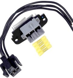 brand new blower motor speed control resistor includes wiring harness pigtail connector fits 1995 2003 ford explorer front ac heater  [ 2500 x 2500 Pixel ]