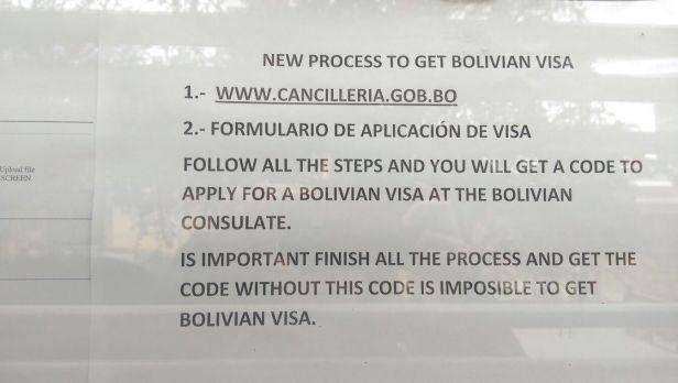 Bolivia Visa – Around the World in 365 days