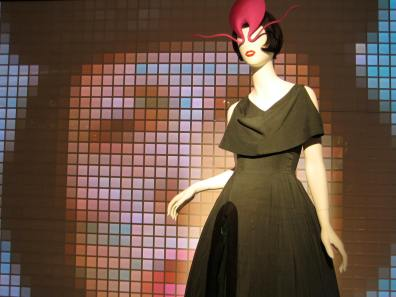 John Galliano dress, Philip Treacy hat