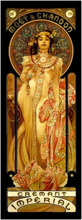 "Alphonse Mucha ""Moetchandon"" (Art Nouveau)"