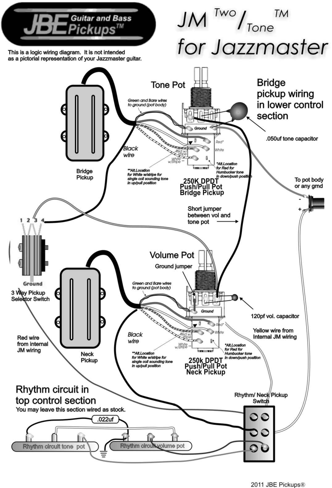 hight resolution of  jazzmaster two tone wiring diagram