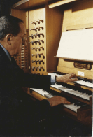 Jacques Berthier à l'orgue de Saint Ignace, 1994
