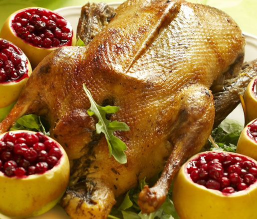 Roast Goose Stuffed with Prunes and Apples Recipe  James Beard Foundation
