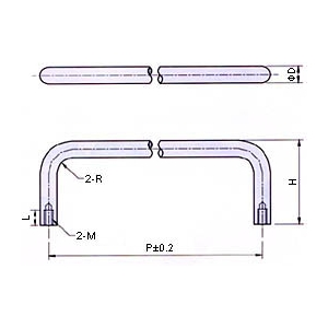Stainless Steel Wire Pull Handle , Pull Handles
