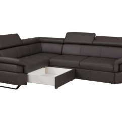 Corner Lounge Sofa Bed Recliner Cosmo White Leather Gothic Jb Furniture