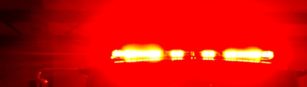 Red strobe light.