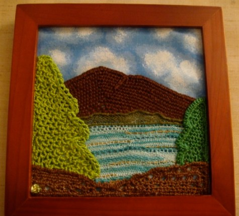 California Landscape Designed by Nancy Evans for the Needle Lace Class at I.O.L.I. convention 2009 (Los Angeles, CA) Needle lace