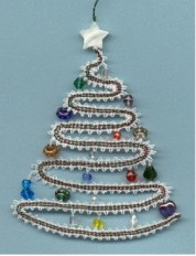 A Christmas Tree with Heart Originally designed for an I.O.L.I. convention pattern book Tape lace