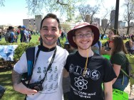 Ran into one of my differential equations students at the march