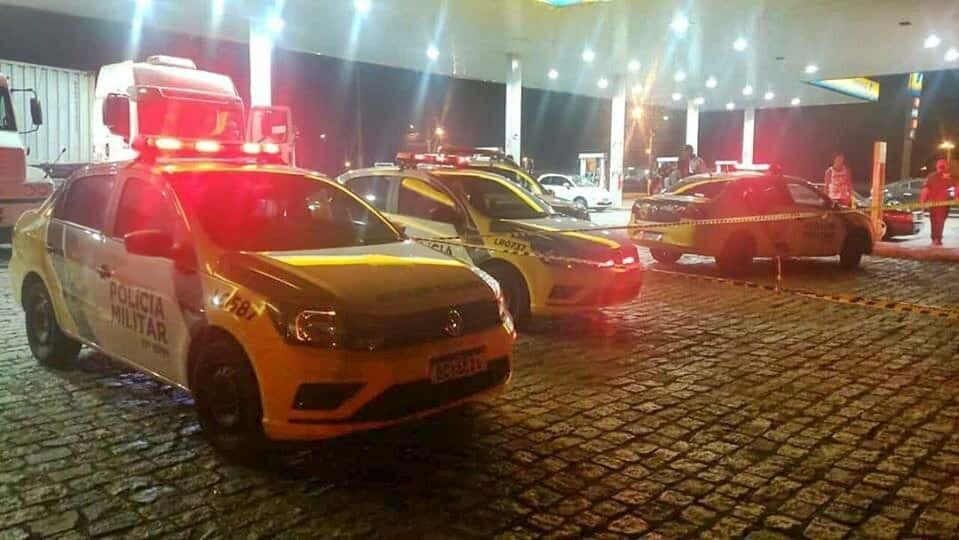 Homicídio ocorreu em pátio de posto de combustível