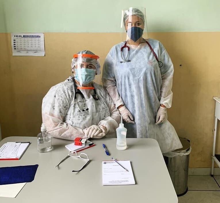 Estudantes de medicina são voluntários na Unidade de Enfrentamento à Covid-19 de Morretes 1
