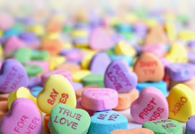 small Valentines's Day heart candy