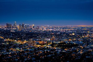 Los Angeles during the night.