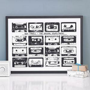 Personalised Playlist Cassette Print