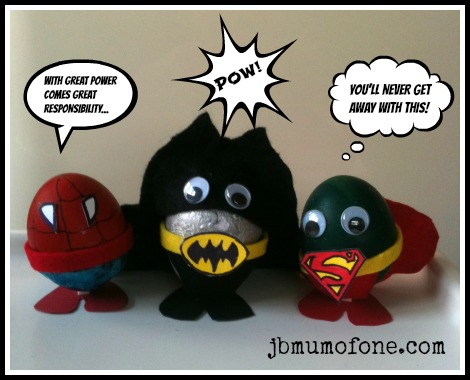 Easter Craft:Sp-EGG-tacular Superheroes!