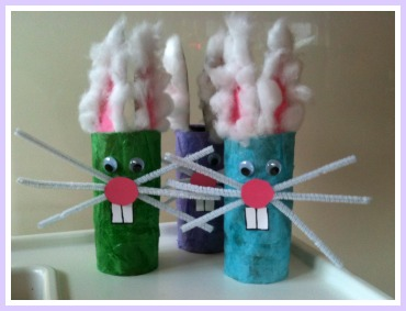 Toddler Easter Craft Bunnies