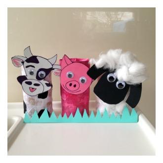 Toilet Roll Craft: Farm Animals
