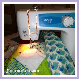 How to Make a Cotbed Quilt for Beginners, Step 8: Quilting!
