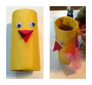 Toilet roll craft, parrots
