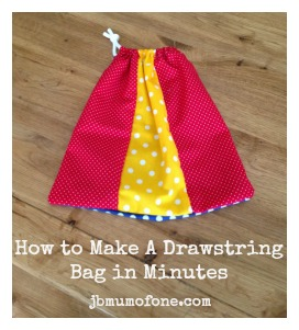 How To Make a Simple Drawstring Bag in Minutes! - Mum Of One