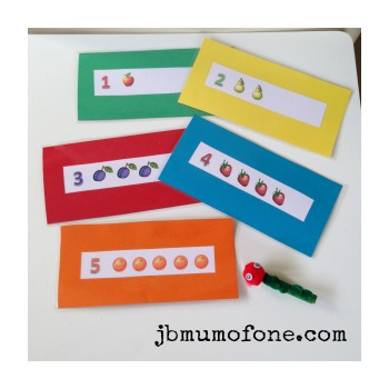 Hungry caterpillar flashcards