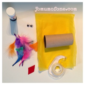 Toilet roll craft: Parrots