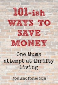 101ish ways to save money