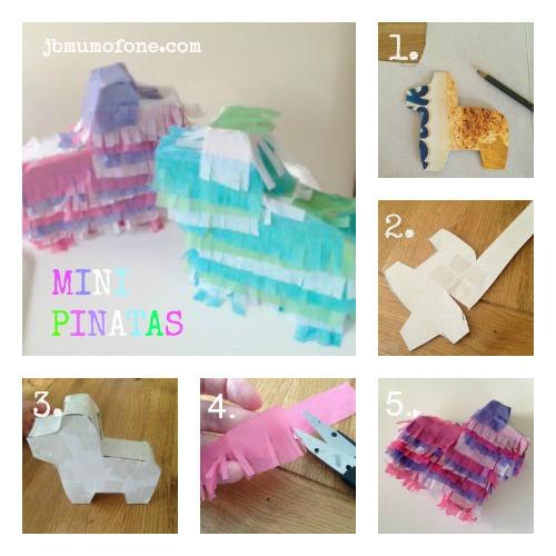 Making Mini Pinatas