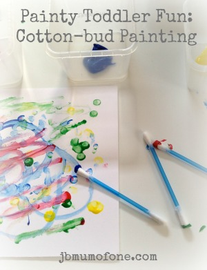 Painty Toddler Fun: Cotton-bud Painting