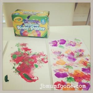 toddler craft: cotton wool painting