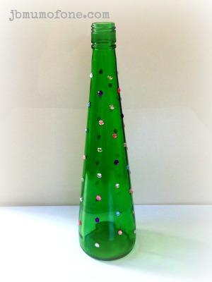 Upcycled Glass Bottle Vase