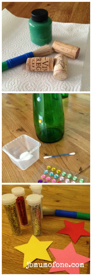 Green Bottle Xmas Tree Craft