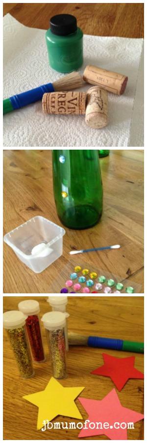 Green Bottle Xmas Tree Craft