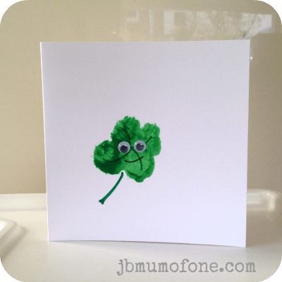 Toddler Craft: Super Simple St Patrick's Day Cards