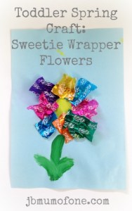 Toddler Craft: Sweet wrapper flowers