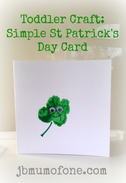 Toddler Craft: Simple St Patrick's Day Card