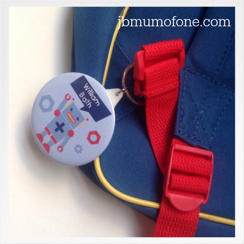 Personalised bag badge