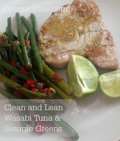 Wasabi Tuna and Sesame Greens