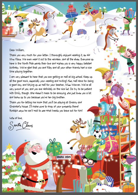 NSPCC Letter from Santa
