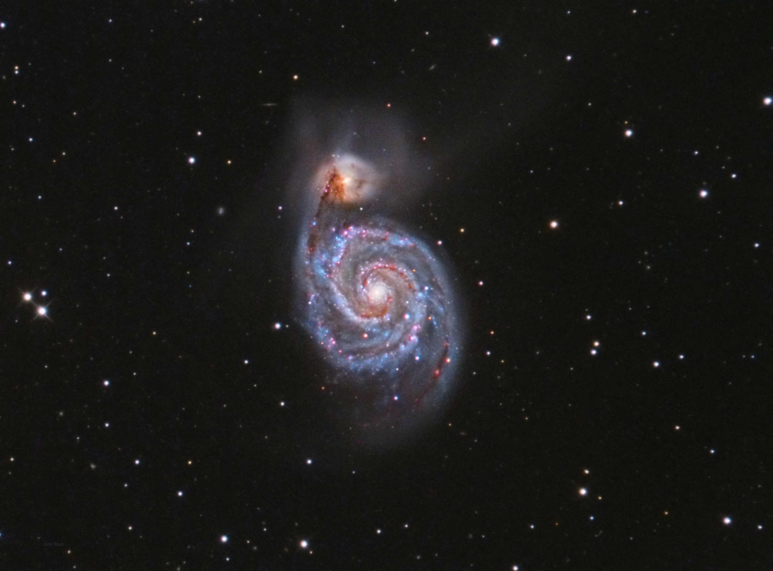 Messier 51 The Whirlpool Nebula  Nights on Mars Hill