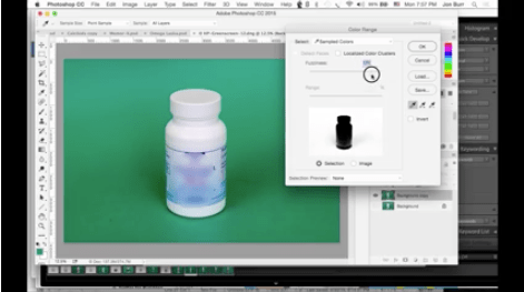 Color selection and masking in Photoshop CS6