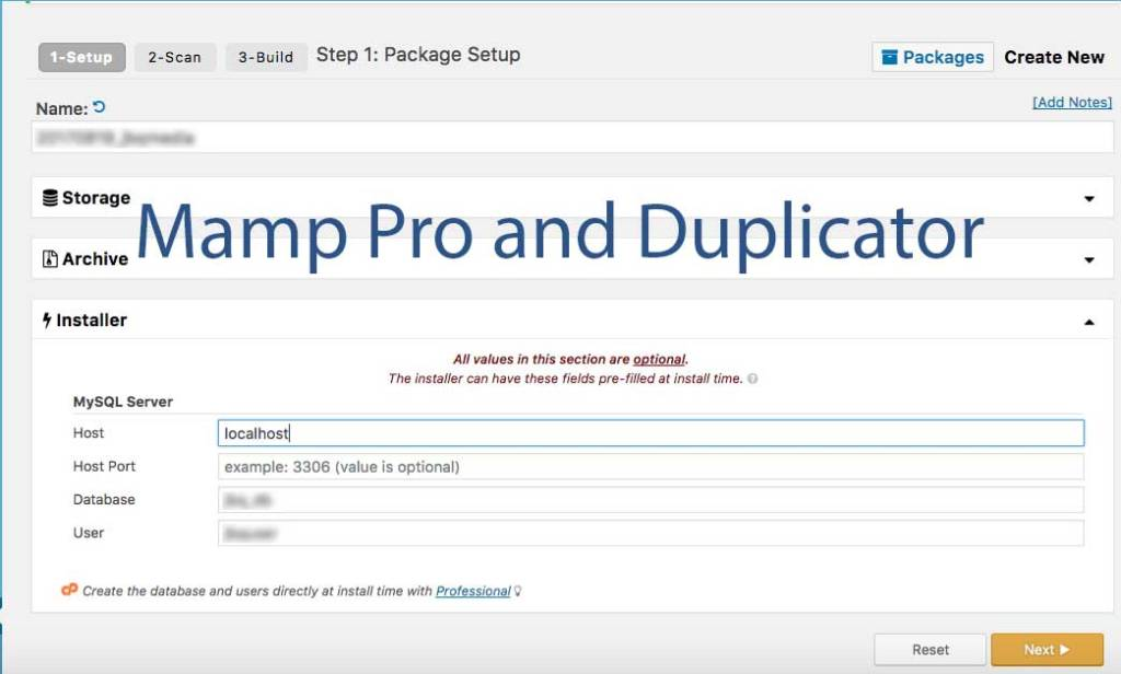 Using Mamp Pro and Duplicator to build a local copy of a live site