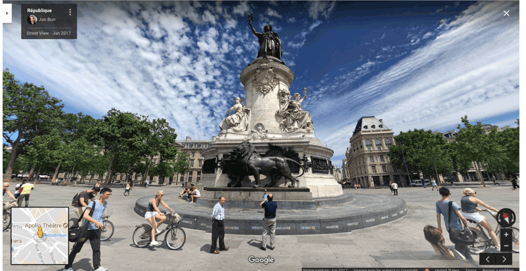 Section of a Photosphere for Google Street View