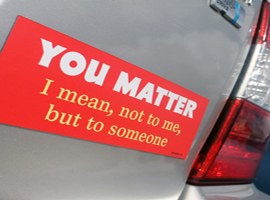 You Matter bumper magnet from High Cotton Gifts